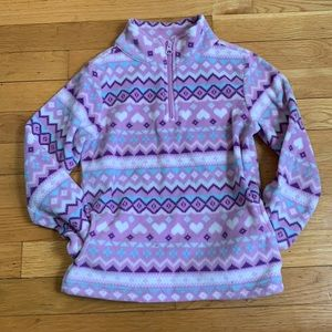 Girls Printed Purple Fleece!